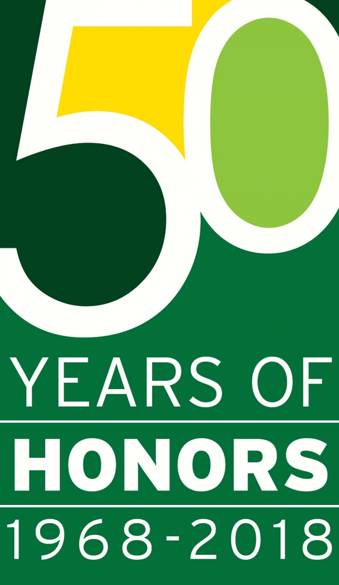 Honors College 50th Anniversary Graphic