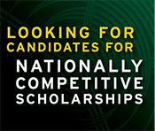 Looking for candidates for nationally competitive scholarships button